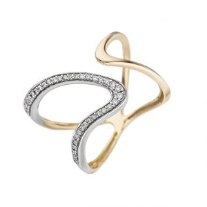 Zartes Design / Ring Gelbgold mit 36 Brillanten