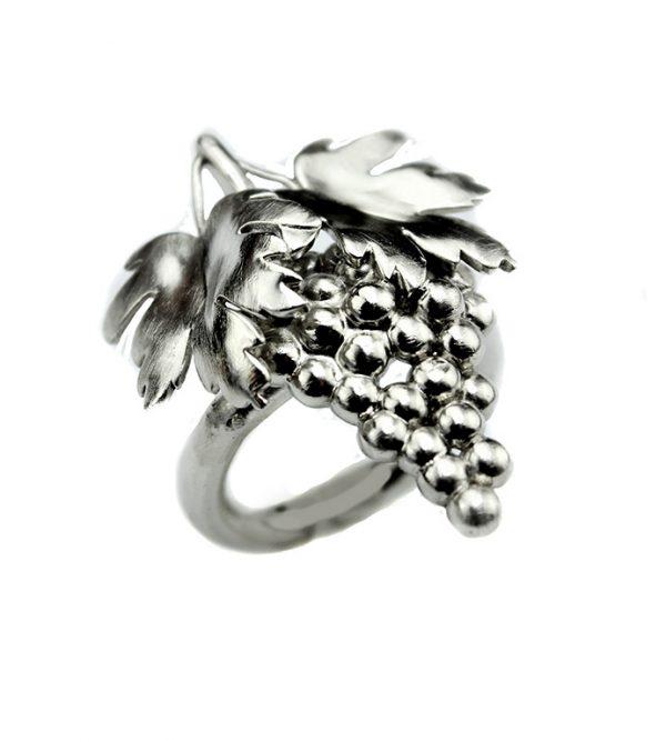 Ring Weinreben 3 cm x 2,5 cm