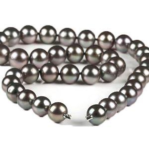 Tahiti-Perlen-Collier mit Wechselschließe