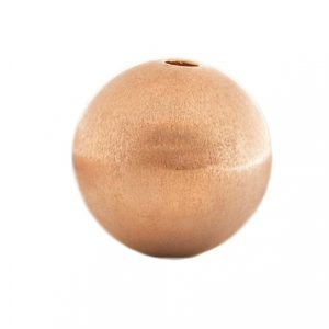 Rosegold-Kugel 14 mm mattiert mit Wechselschließe
