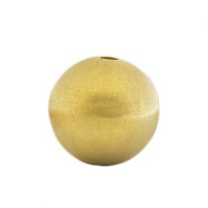 Gold-Kugel 14 mm mattiert mit Wechselschließe