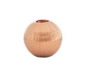 Rosegold-Kugel 8 mm mattiert mit Wechselschließe