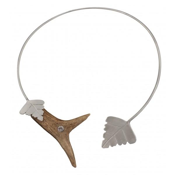 Rehhorn Collier 925 Silber schlicht und elegant mit SWAROVSKI ELEMENTS