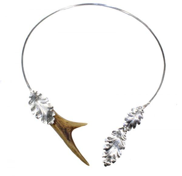 Rehhorn Collier mit Eichenblättern 925 Silber