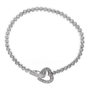 Elegantes Armband 925.00 Silber mit Zirkonia