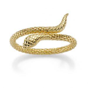 Elegante Schlangen-Armspange Gelbgold