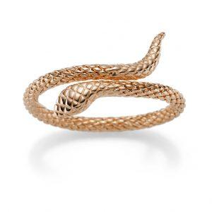 Elegante Schlangen-Armspange Rotgold
