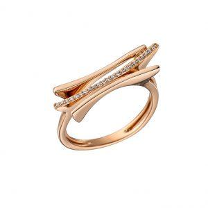 Eleganz und Raffinesse versprüht der 585 Rotgold-Ring, besetzt mit 23 Brillanten