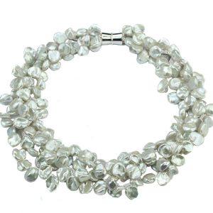 Keshi-Perlen Collier mehrreihig