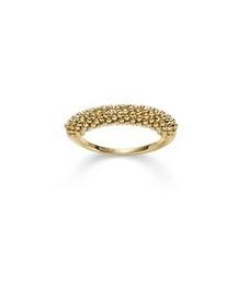 Elegant und lebendig, so erstrahlt dieser besonders raffniniert geschliffene Ring in Gelbgold