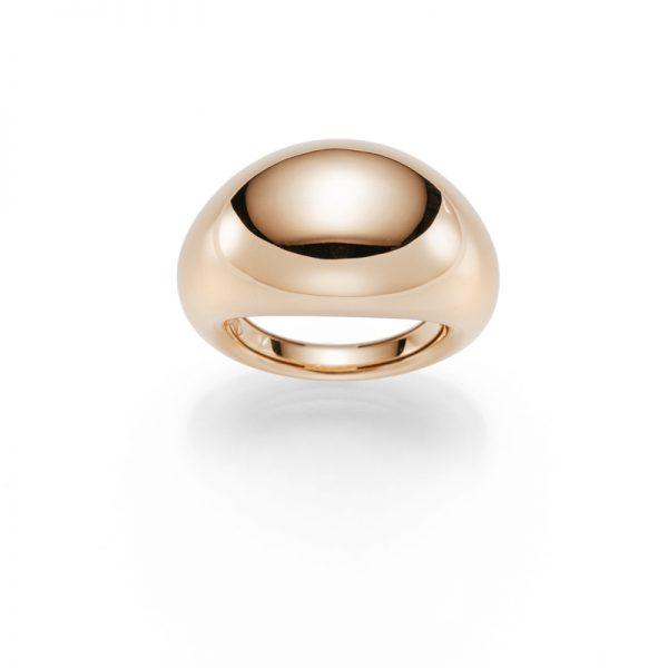 Modern & ein Highlight ist dieser massive Rotgold-Ring